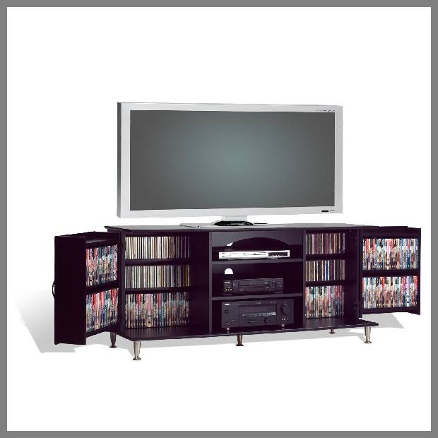 Black TV Console With Storage