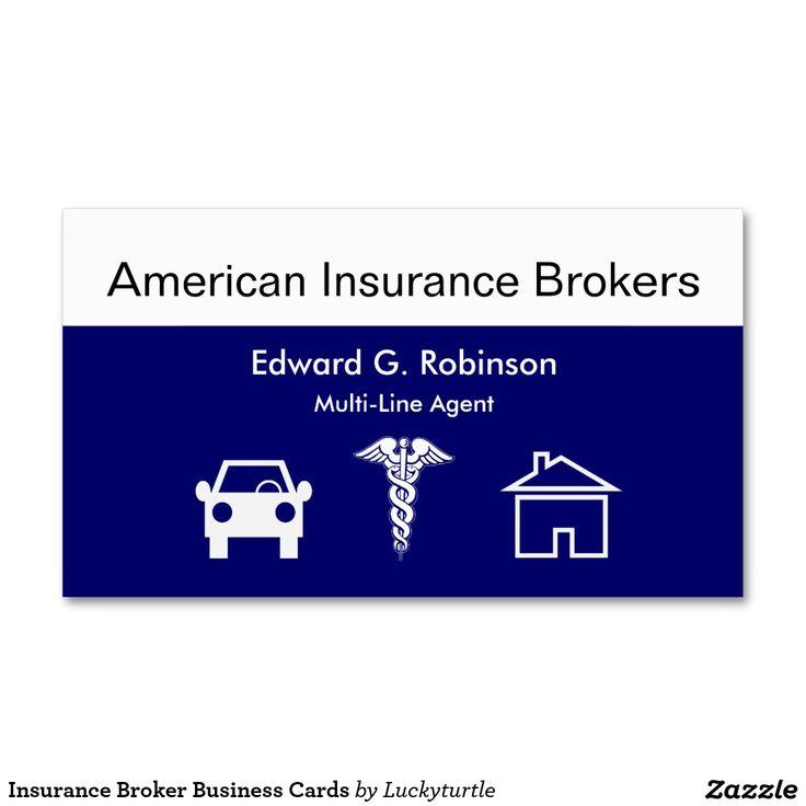 Tarjetas de visita del corredor de seguros