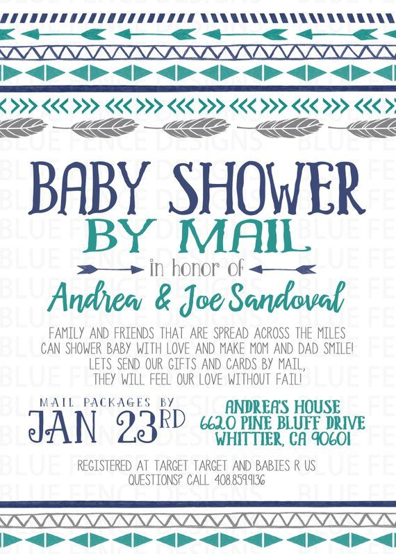 Across The Miles Baby Shower Invitation Baby Shower By
