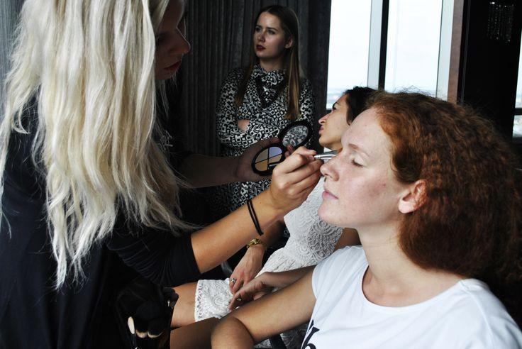 #isadora #red #redhead #hair #eyes #lips #show #makeup #work #mascara #fashionshow #lashes #model #models #makijaż #poland