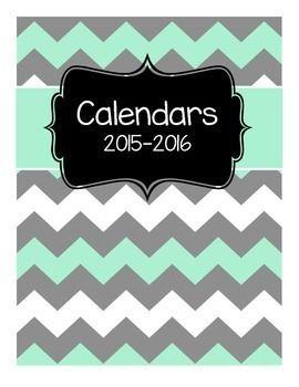 2015-2016 Free Blank Calendars