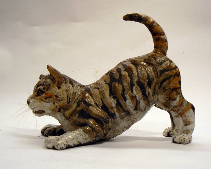 Lesley McKenzie_Tabby Kitten_Raku Ceramic_25 | Scottish Contemporary Art