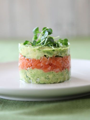Salmon and Avocado Towers. Thanks, @Annabel Schubert Schubert Schubert Schubert Langbein!
