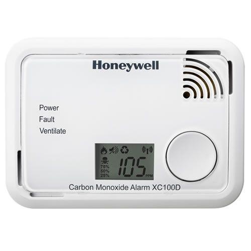 Détecteur de Monoxyde de carbone Honeywell avec ecran LCD pour prévenir les risques d'intoxication au monoxyde de carbone. Article Disponible sur Protect-Habitation.Fr
