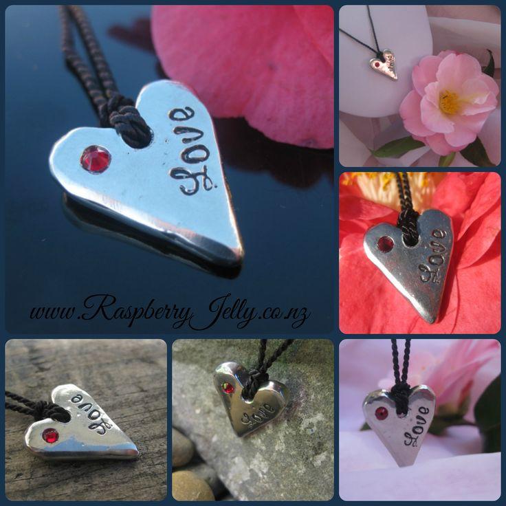 Enter to win: Stunning Raspberry Jelly Pewter 'Love' Heart | http://www.dango.co.nz/s.php?u=i0pQCkg72950