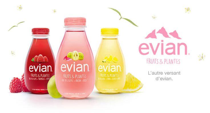 """Après Volvic, c'est au tour d'Evian de faire son entrée sur le marché des eaux aromatisées, avec """"Fruits & Plantes"""" !"""
