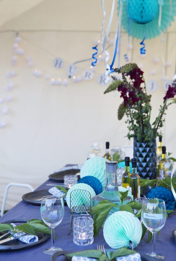 Party in the tent! Styling Tone Kroken Photo Yvonne Wilhelmsen