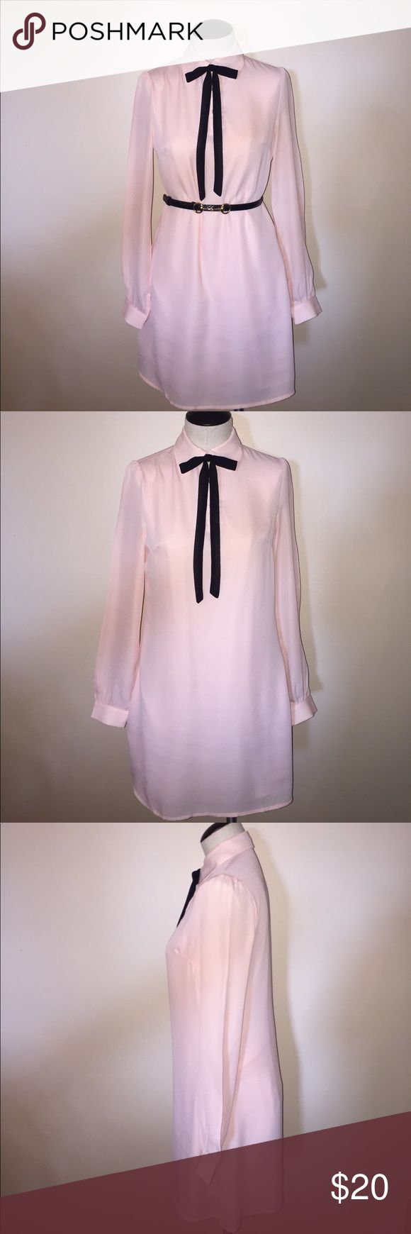 ASOS Shirt Dress with Collar Tie Detail SZ 4 Beautiful Fashion union dress from ASOS size US 4 measurements from shoulder to hem: 32 1/2 inches from should to sleeve 24 1/2 inches. Worn once excellent condition! ASOS Dresses Mini