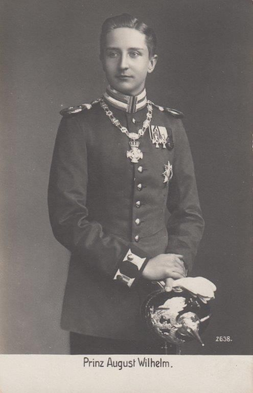 Prince August Wilhelm of Prussia as Young Foot Guards Officer w Pickelhaube PCD | eBay