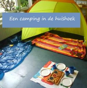 huishoek aankleden; zomer in de klas, camping in de huishoek