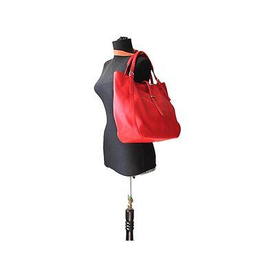 Sabrina Italian Red Leather Hobo Bag - £64.99