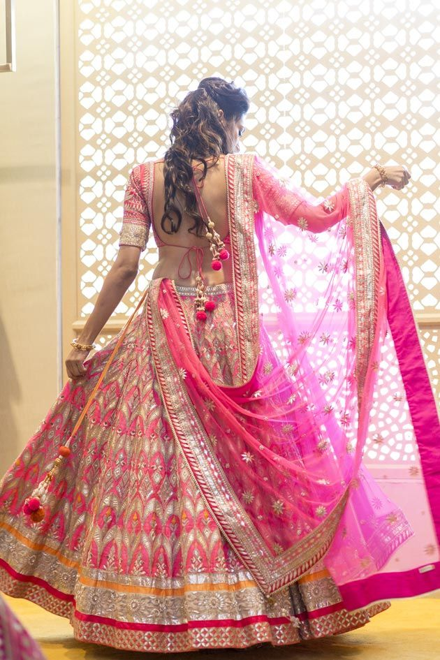 pink bridal lehenga... #indian #wedding #dresses