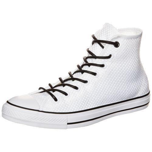 #CONVERSE #Herren #Chuck #Taylor #All #Star #High #Sneaker #weiß - Der Chuck Taylor All Star ist längst ein Klassiker und lässt in Sachen Style keinerlei Fragen offen. Diese High-Variante präsentiert sich mit geflochtenem Obermaterial, Schnürsenkeln in Kontrastfarbe und der bewährten Converse Silhouette. Die robuste Gummisohle steht für Strapazierfähigkeit und lang anhaltenden Tragekomfort. Das Converse-ALL STAR Markenlogo an der Seite und Ferse garantiert den unverkennbaren Style.