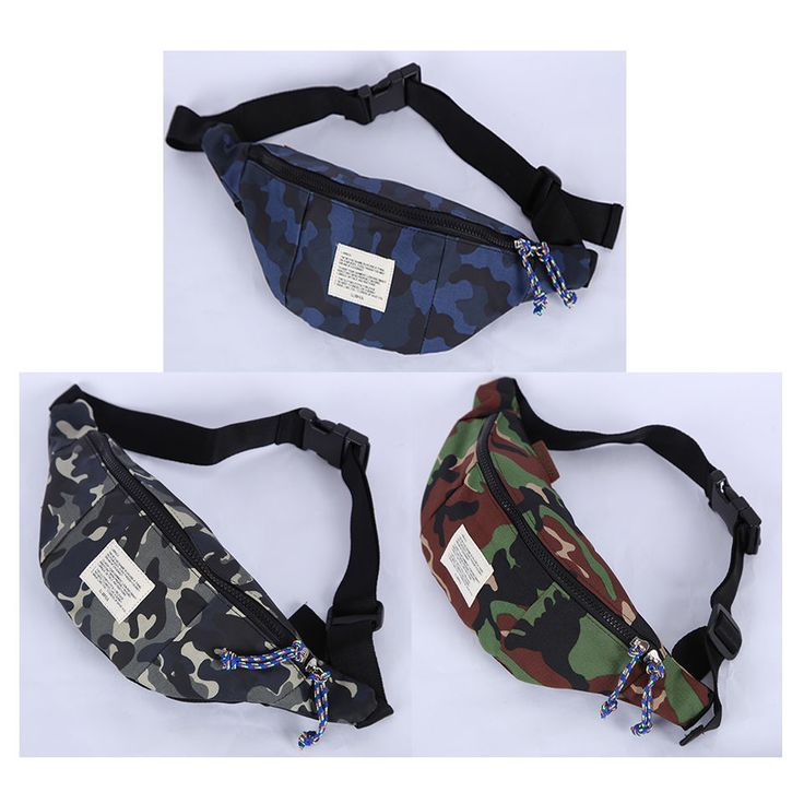 Korea Fanny Waist Pack Cross Shoulder Bag CAMO Banana Hip Sack Hipsack Polyester