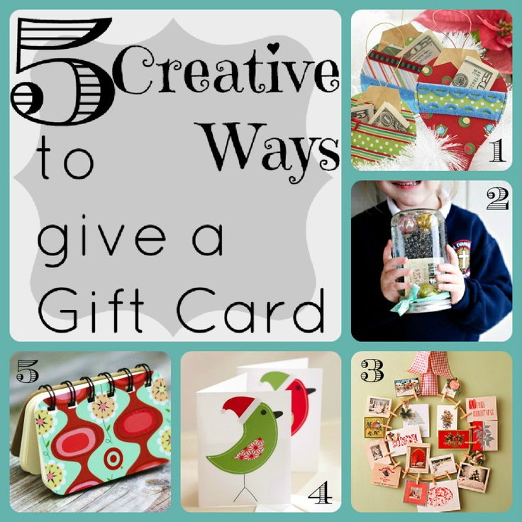 5 creative ways to give a gift card lucy baby blog stuff for Creative xmas gifts