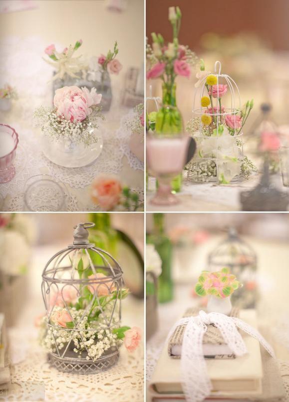 Mini birdcage centerpieces - photo#18