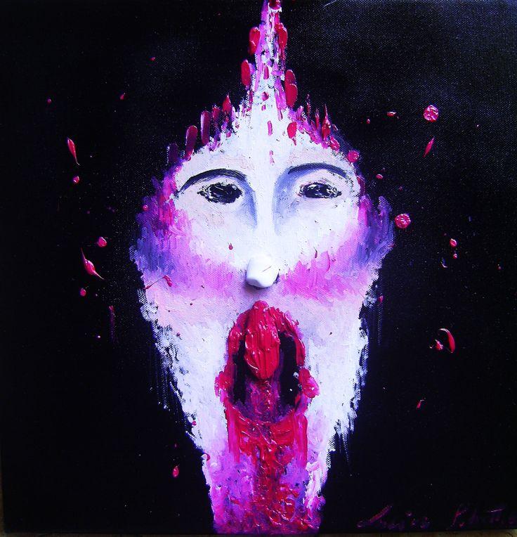 """""""clown"""" oil on canvas 40x40"""