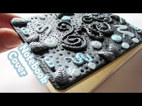 DIY - Polymer Clay Journal Cover - YouTube