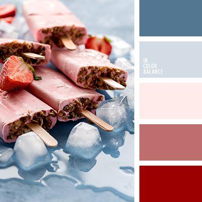 бордово-красный, бордовый и вишневый, бордовый и голубой, бордовый и темно-синий, вишневый и бледно-голубой, вишневый и голубой, вишневый и почти черный, вишневый и темно-бордовый, вишневый цвет, голубой и вишневый, оттенки розового, синий,