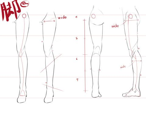 「脚の描き方・改」/「たかなしぃ(小鳥遊啓)」のイラスト [pixiv]