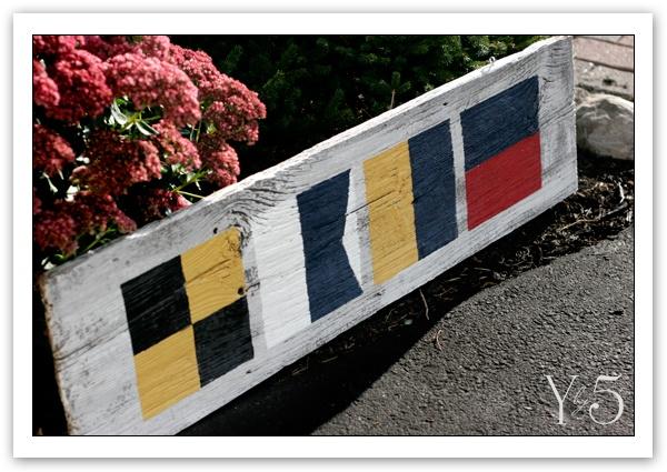 "Custom nautical signal flag sign. ""LAKE"". Yby5.com"