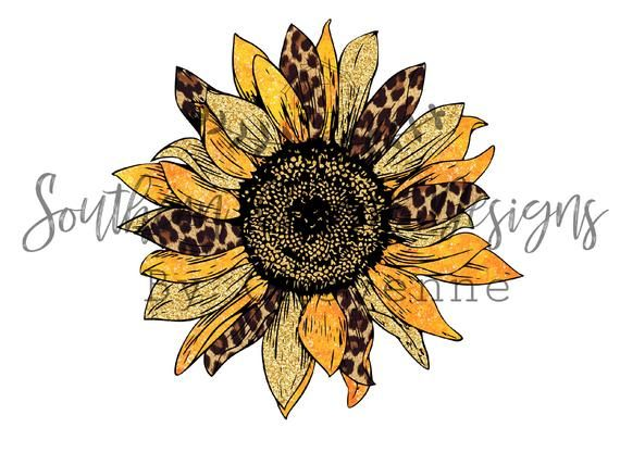 Cheetah Leopard Sunflower Design Png Digital Download For Etsy In 2021 Cheetah Print Tattoos Leopard Print Tattoos Sunflower Tattoo Shoulder