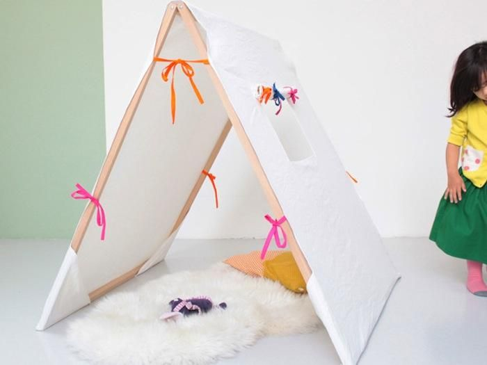 Awesome weekend project anyone?: Weekend Projects, Kids Ideas, Kids Tent, Plays Tent, Kids Indoor Tent, Reading Nooks, La Tent, Caroline Gomez, Kids Rooms