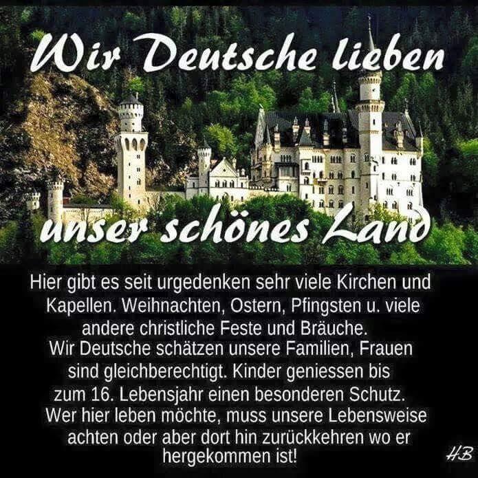 Wir Deutschen lieben unser schönes Land