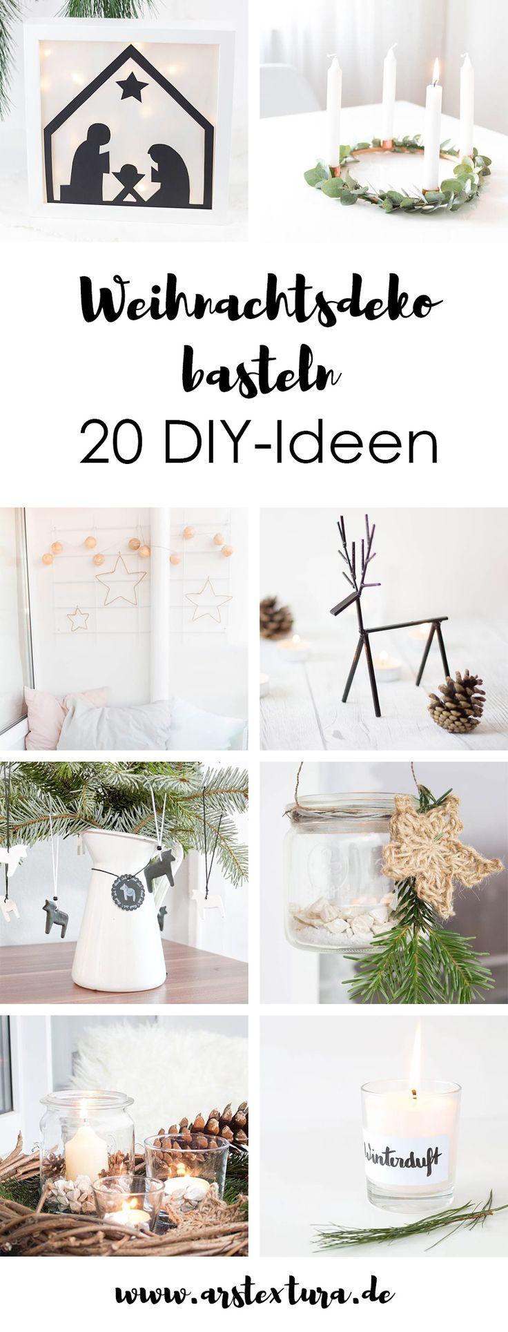 Weihnachtsdeko basteln - 20 DIY Ideen für dein Zuhause: Adventskalender, Adventskranz, Weihnachtsbaumdeko - es ist für jeden etwas dabei | #weihnachten #weihnachtsdeko #basteln