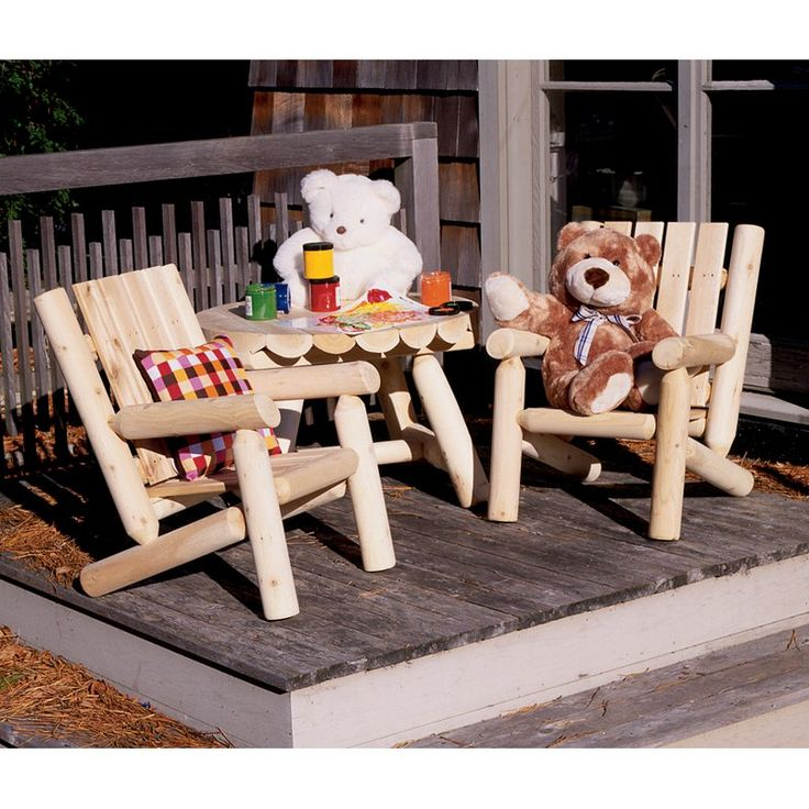Outdoor Rustic Natural Cedar Furniture Old Country Junior Log Chair    01004JR