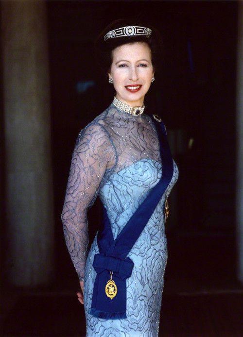 Princess Anne Elizabeth Alice Louise (1950-living2013) 2nd child of Queen Elizabeth II & Prince Phillip, Duke of Edinburgh. Anne's 1st husband (m. 1973-div. 1992) was Captain Mark Anthony Peter Phillips (1948-living2013). Anne's 2nd husband is Timothy Laurence (1955-living2013).