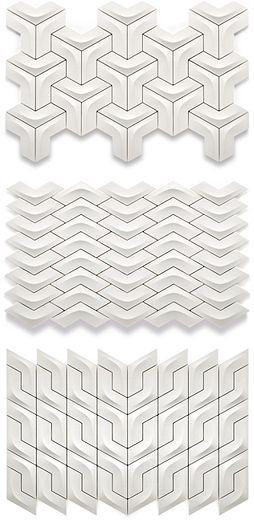Versatile Arc Ceramic Wall Tile, Winner of red dot award