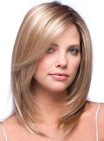 Straight Medium Frisuren für dünnes Haar 2017
