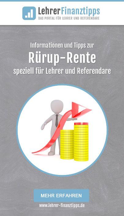 Tipps uns Informationen zur Rürup-Rente speziell für Lehrer und Referendare.