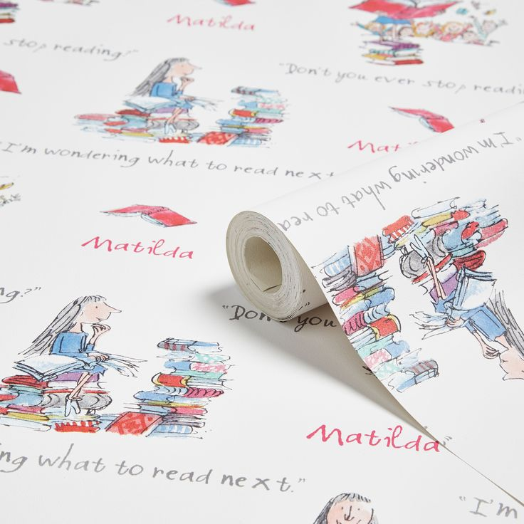 Muriva Roald Dahl Matilda Wallpaper | Departments | DIY at B&Q