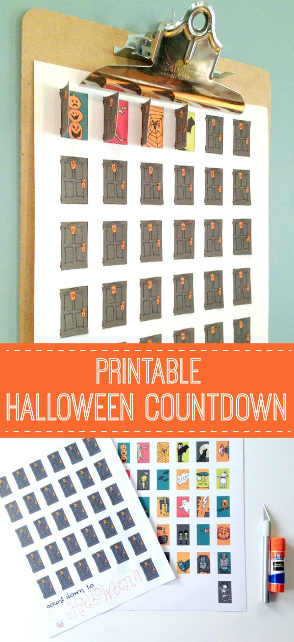 We're counting down until one of our favorite holidays... Halloween! Here is a great Halloween Countdown Printable to help you celebrate all month long!