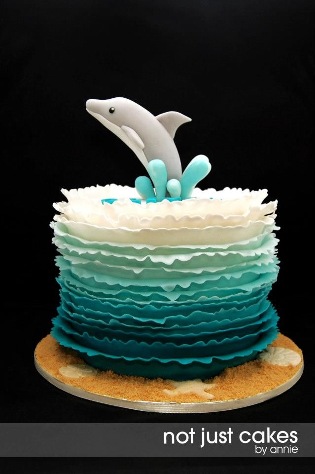 Dolphins cake by Not Just Cakes by Annie
