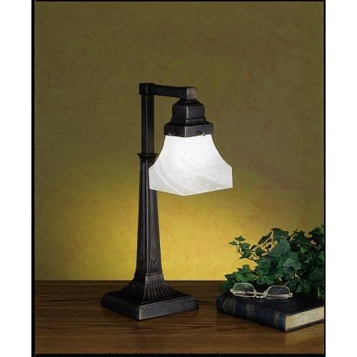 Meyda Tiffany 27624 Craftsman / Mission Accent Table Lamp from the Country Bungalow Collection, Gold