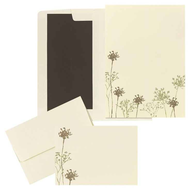 Baby Breath Floral Themed Wedding Invitations (50 count),