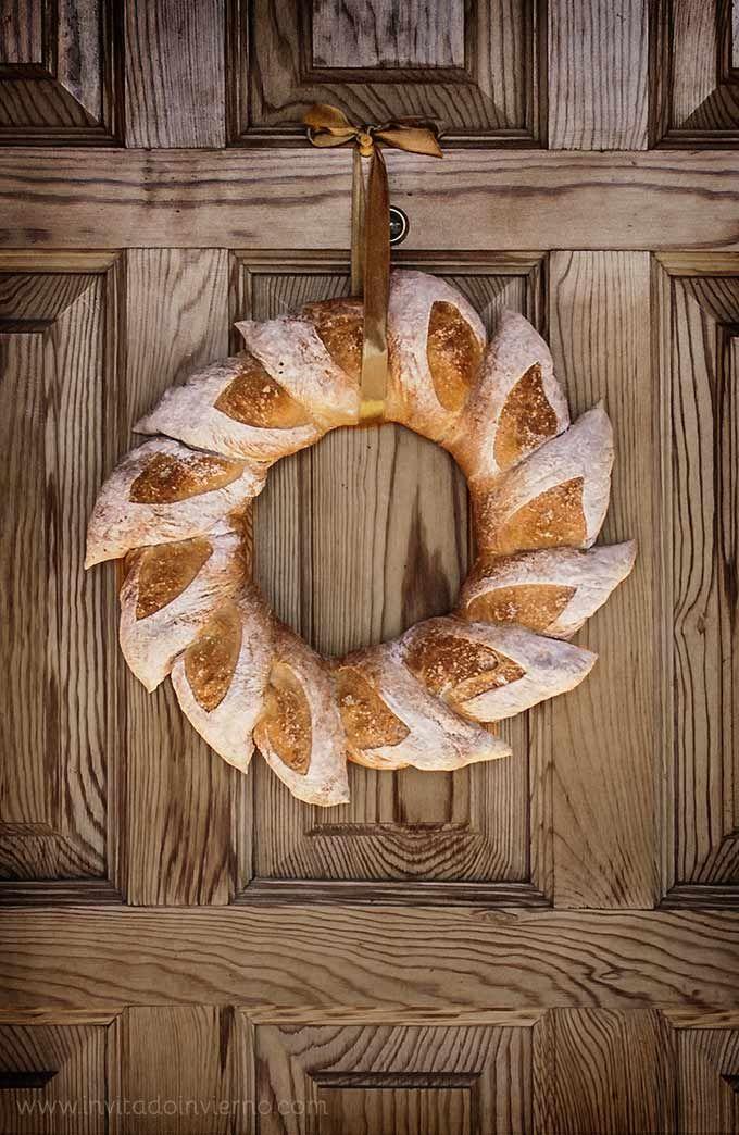 imagen de rosca de pan de navidad