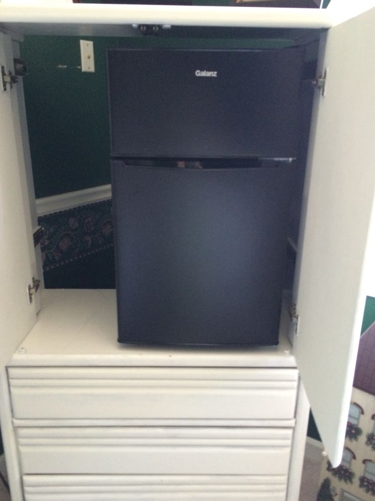 Use The Tv Cabinet Entertainment Center To Hide A Mini Fridge In Your Room Possible Mini Bar