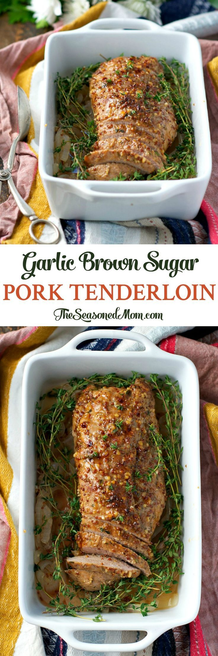With just 10 minutes of prep, this Garlic Brown Sugar Pork Tenderloin is an easy dinner that's fancy enough for guests!
