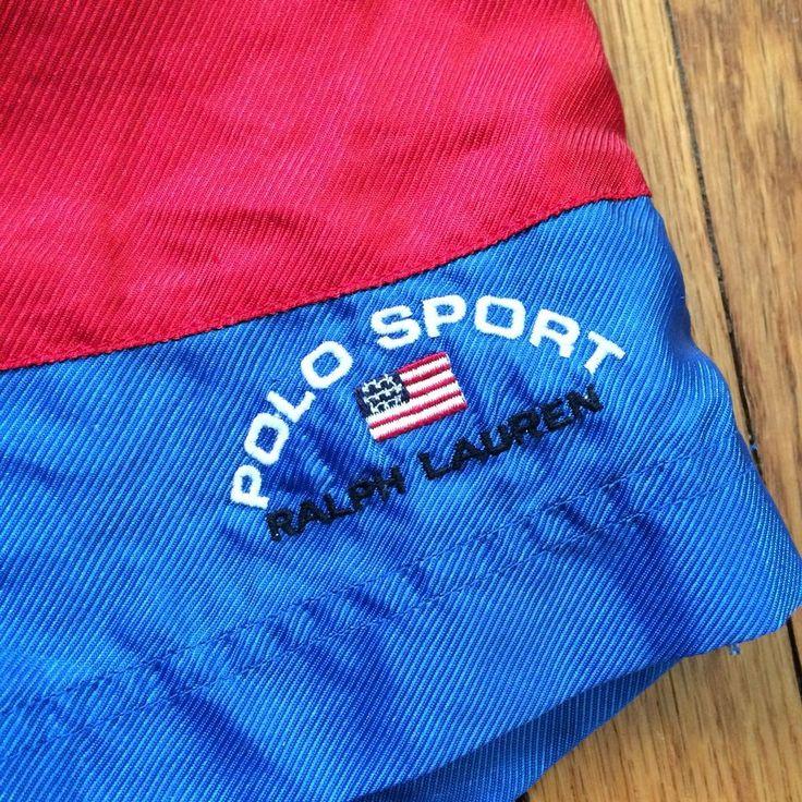 RARE Vintage Men's POLO SPORT Ralph Lauren Swim Trunks Shorts Size Large #PoloSport #Trunks