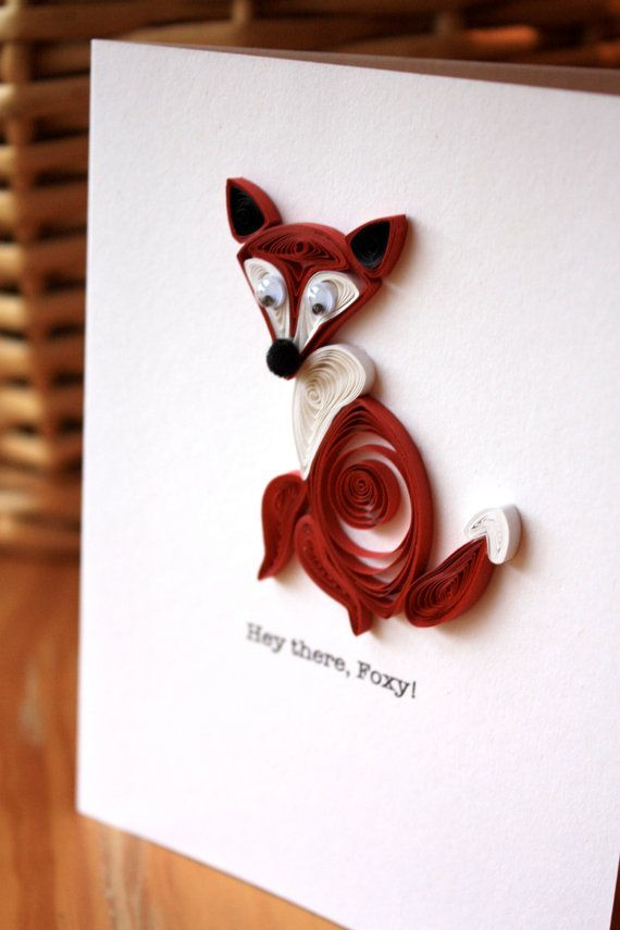 Hey there, Foxy - Unique Greeting Card - Love - Thinking of You