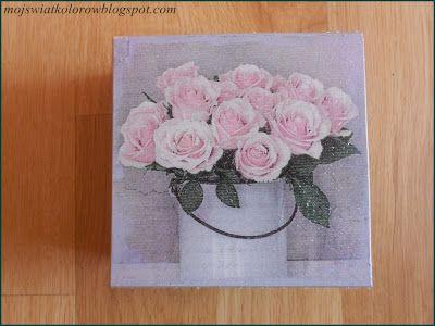 Mój świat kolorów...: Różane pudełko....