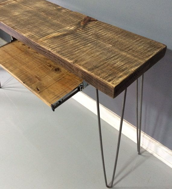 Reclaimed Table or Desk Keyboard Tray Reclaimed Wood by DendroCo