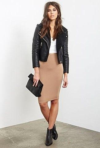 les 25 meilleures id es de la cat gorie jupe marron sur pinterest pencil leather skirt jupe. Black Bedroom Furniture Sets. Home Design Ideas