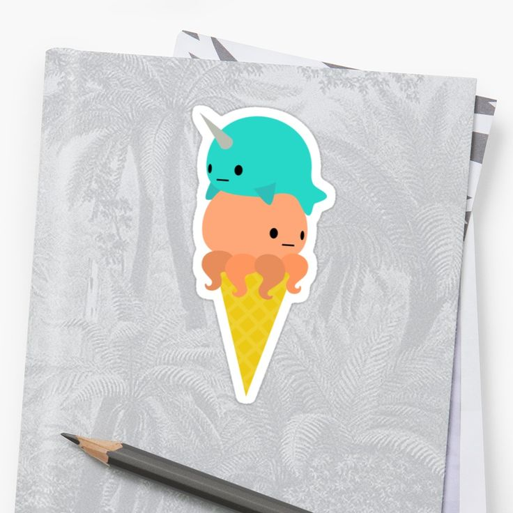 I drew a narwhal octopus ice cream cone. It is inaccurate. Narwhal horns are actually a huge left tooth, and octopus mouths have beaks where you'd expect to find a butthole. Reality is just not adorable. • Also buy this artwork on stickers, apparel, phone cases, and more.