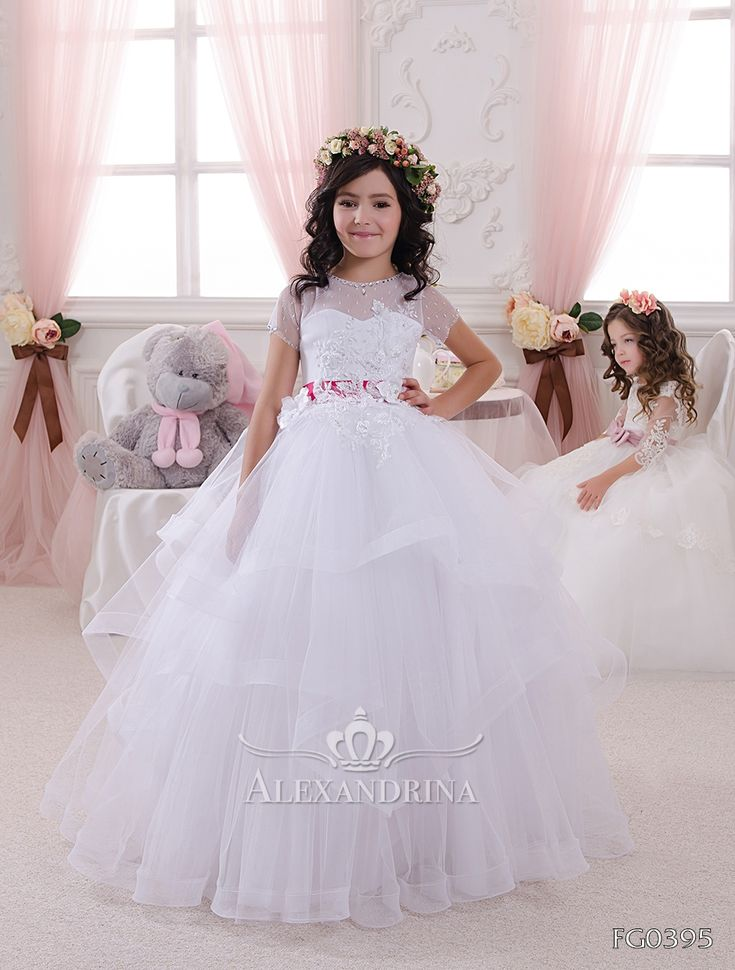 Fg0395 | <b>First communion dress</b> | Wedding dresses for kids, Gowns ...