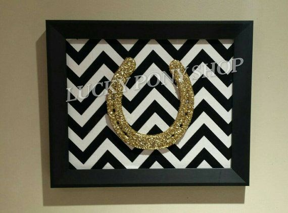 Framed Glitter Horseshoe-Lucky Post Shop https://www.etsy.com/listing/159831903/framed-horseshoe-lucky-gold-glitter